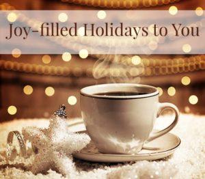Joyfilled Holidays to you